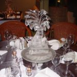 wedding ice sculpture centerpieces