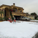 man made snow delivered to your yard